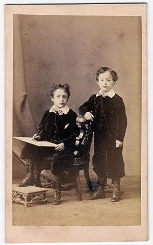 Carte de visite Naples Portrait of a little artists proficient Photo Arena 1860c S680: Arena - ...
