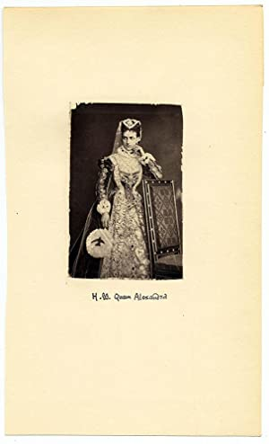 Royalty H. M. Alexandra Original small albumen photo mounted on card 1890c L552