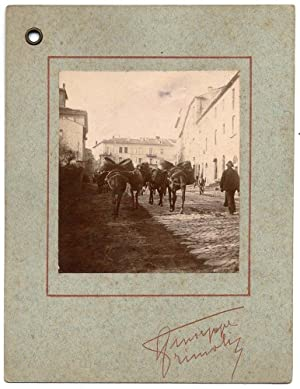 Photograph Giuseppe Primoli Rome Original photo Invitation charity dancing Signed 1889 L593