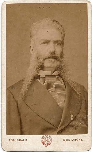 Carte de visite Turin Italian gentleman long headers Not identified 1870c Montabone Torino