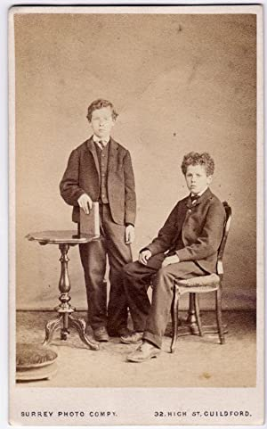 Carte de visite Guildford Portrait of a scholars Boys Photo Surrey photo compy. 1866c S685