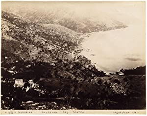 Taormina Sicily Panorama from Theatre Large albumen photo 1870c Incorpora