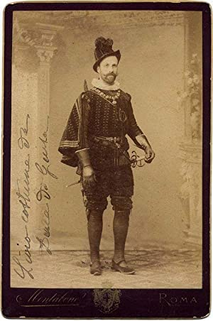 Royalty Cabinet Rome Nobleman at masked ball Albumen photo 1875c Montabone Roma