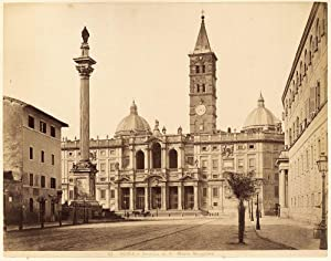 Excellent Rome Cathedral of St Maria Maggiore Large vintage albumen photo 1870c