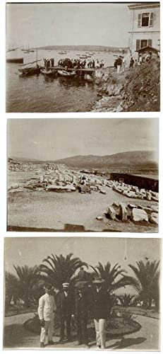 Unknown location Greece   Turkey   Lot three small photos unmounted 1900c