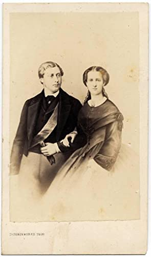 Carte de visite Royalty Prince and Princess of Wales 1880c England Photo Duroni S23