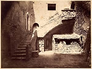 Rare Photograph Taormina Sicily Corvaja House Crupi Friend Von Gloeden attributed 1890 XL90