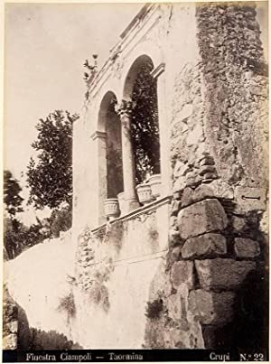 Photograph Rare Taormina Sicily Crupi Friend of Von Gloeden Large albumen photo 1890c XL91