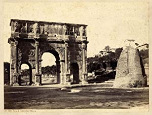 Photograph Rome #1029 Arco di Costantino Roma Large vintage albumen photo Sommer 1860 XL142