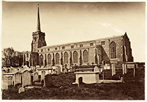 Lowestoft Suffolk England Cemetery of the Church Vintage albumen photo 1870 L263