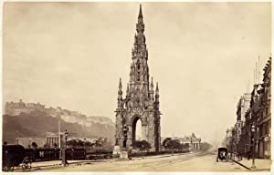 Edinburgh Princes Street Scotland Vintage albumen photo G. W. Wilson 1865c L276