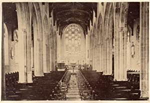 Lowestoft Suffolk England Interior St Margareti Church Vintage albumen 1870 L264