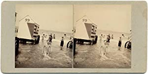 Ostend Belgium Sea Swimwear fashion Stereoview Stereo card 1900c Belgique S143