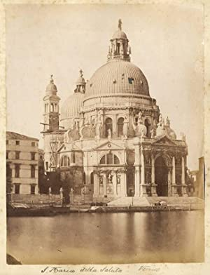 Lot 4 Venice vintage albumen Church of St. Maria Salute in reparation 1870c Xl49