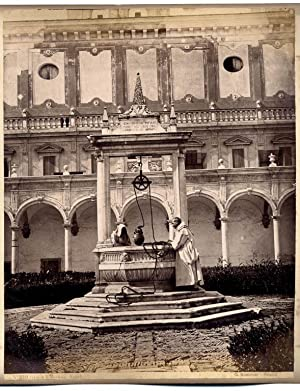 Naples Certosa of St Martin Two Large albumen photos front/back Sommer 1860c