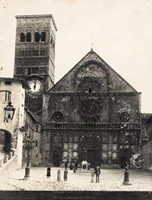 Assisi Umbria #15 Facciata del Duomo Large vintage silver photo 1900c Alinari