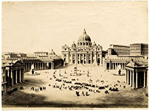 Rome #286 Piazza San Pietro Large vintage albumen photo 1880c L291