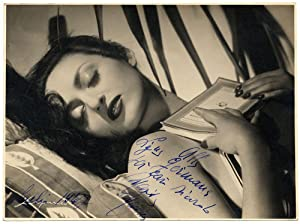 Photograph Elio Luxardo Great photo dedied signed Fashion Beauty Original baryte photo 1947 L350