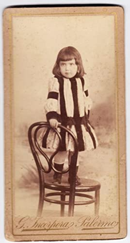 Small cabinet Palermo portrait little girl Photo Incorpora 1890c S728