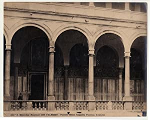 Original photo gelatin silver Palermo palatine Chapel outside 1900c L404