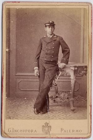 Cabinet Palermo portrait of a young military Photo Incorpora 1880c S720