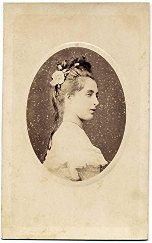 Carte de visite Theater Actress or Opera singer not identified 1880c Lo Forte Palermo S239