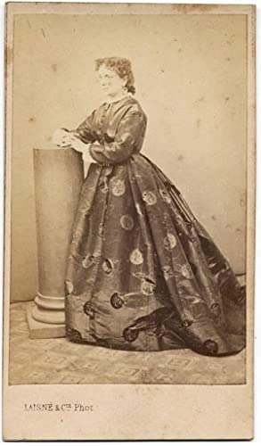 Carte de visite Theater Actress or Opera singer not identified 1860c Laisné Palermo S240