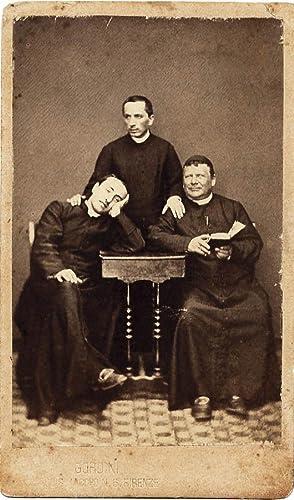 Carte de visite Three priests wags Italy Rome Catholic religion Vatican 1870c