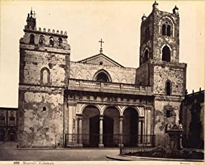 Monreale Palermo Cathedral Large original albumen photo G. Sommer 1880c XL253