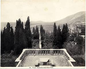 Tivoli Rome Panorama from Villa d'Este Large original silver photo 1900c Roma