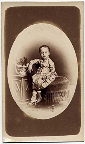 Carte de visite Palerme Little boy dressed as a girl 1880c Giuseppe Incorpora Palermo
