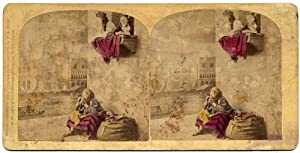 Photograph Venice Costumes Stereoscopic treasures FG Weller Stereo card colored 1860c S1083