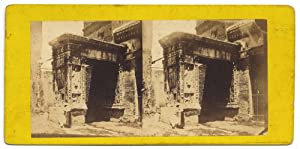Rome Temple of Minerva Medica Rare Stereo card Albumen photo 1860c S1062