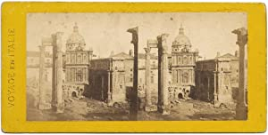 Rome Forum Rare Stereo card Albumen photo 1860c S1064