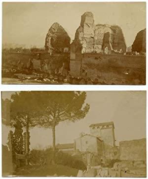 Lot four small original photos Rome Roman Campagna Location not identified 1900c