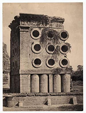 Monument of the baker Eurisace Rome Heliogravure 1900 L438