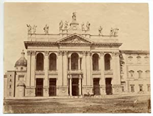 Rome San Giovanni in Laterano Salt print slightly albuminate 1858c Roma XL322