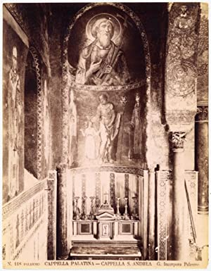 Palermo Sicily Palatine Chapel Interior Large original albumen photo 1880c L740