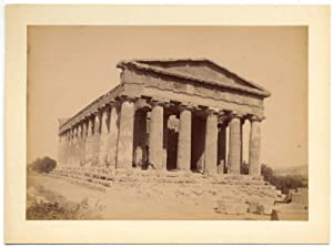 Girgenti Sicily Temple of Concordia Large vintage albumen photo Crupi 1890c L733