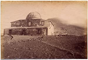 Mount Etna Catania Sicily Observatory Large original albumen photo 1880c L739