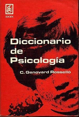 DICCIONARIO DE PSICOLOGIA: C. GENOVART ROSSELLO