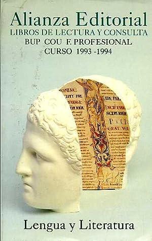 ALIANZA EDITORIAL LIBROS DE LECTURA Y CONSULTA: NO CONSTA AUTOR