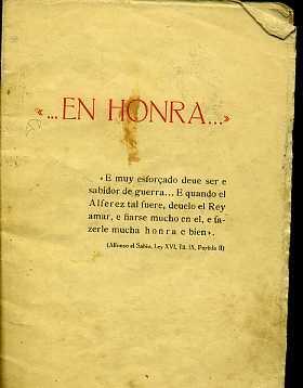 EN HONRA. OFRENDA DE FALANGE ESPAÑOLA TRADICIONALISTA: COLECTIVO. VARIOS AUTORES
