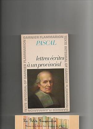Lettres écrites à un provincial: Pascal