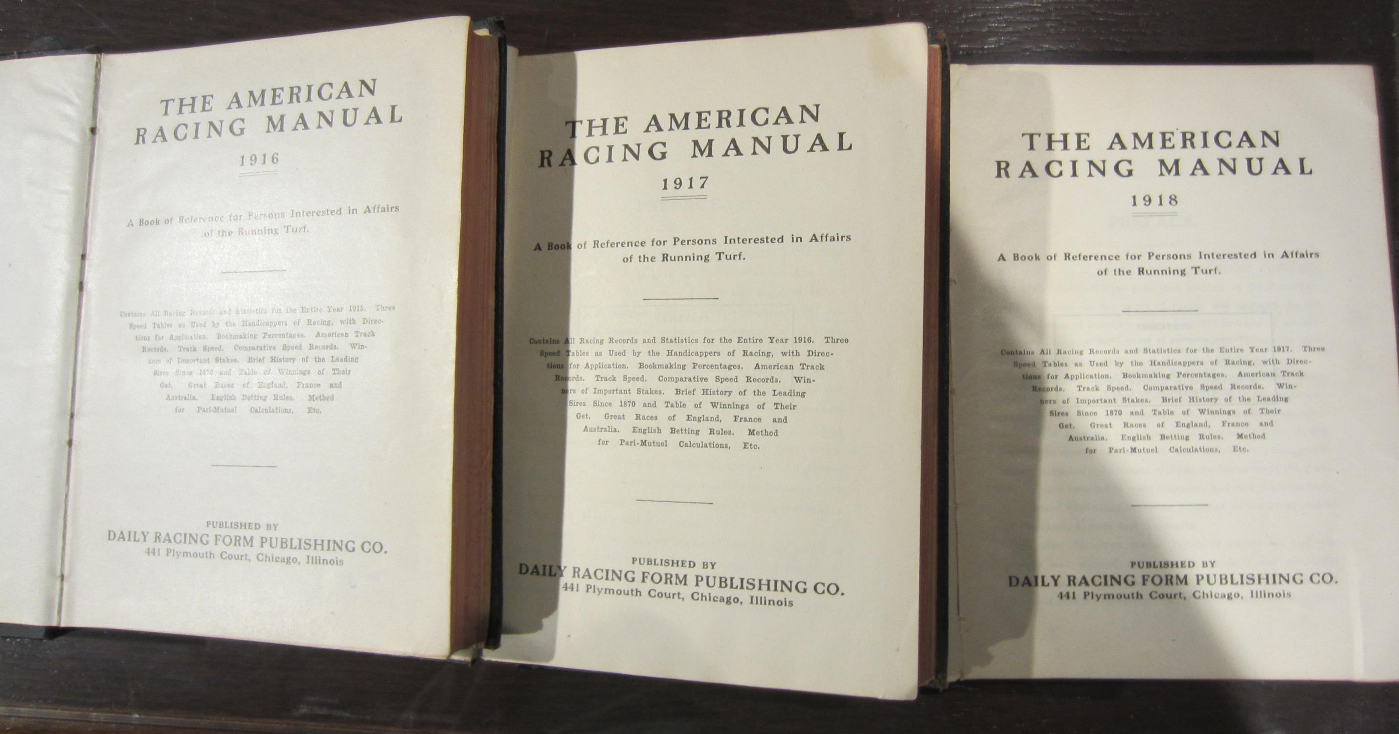 American Racing Manuals, 80 Volumes, Years