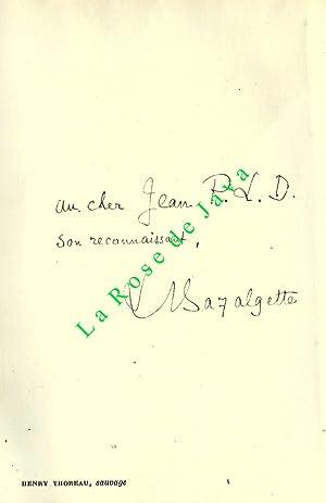 Henry Thoreau sauvage.: BAZALGETTE Léon