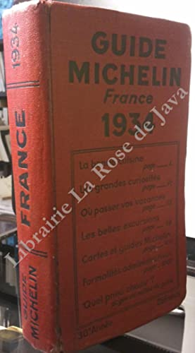 Guide Michelin 1934. Guide Rouge France.: MICHELIN