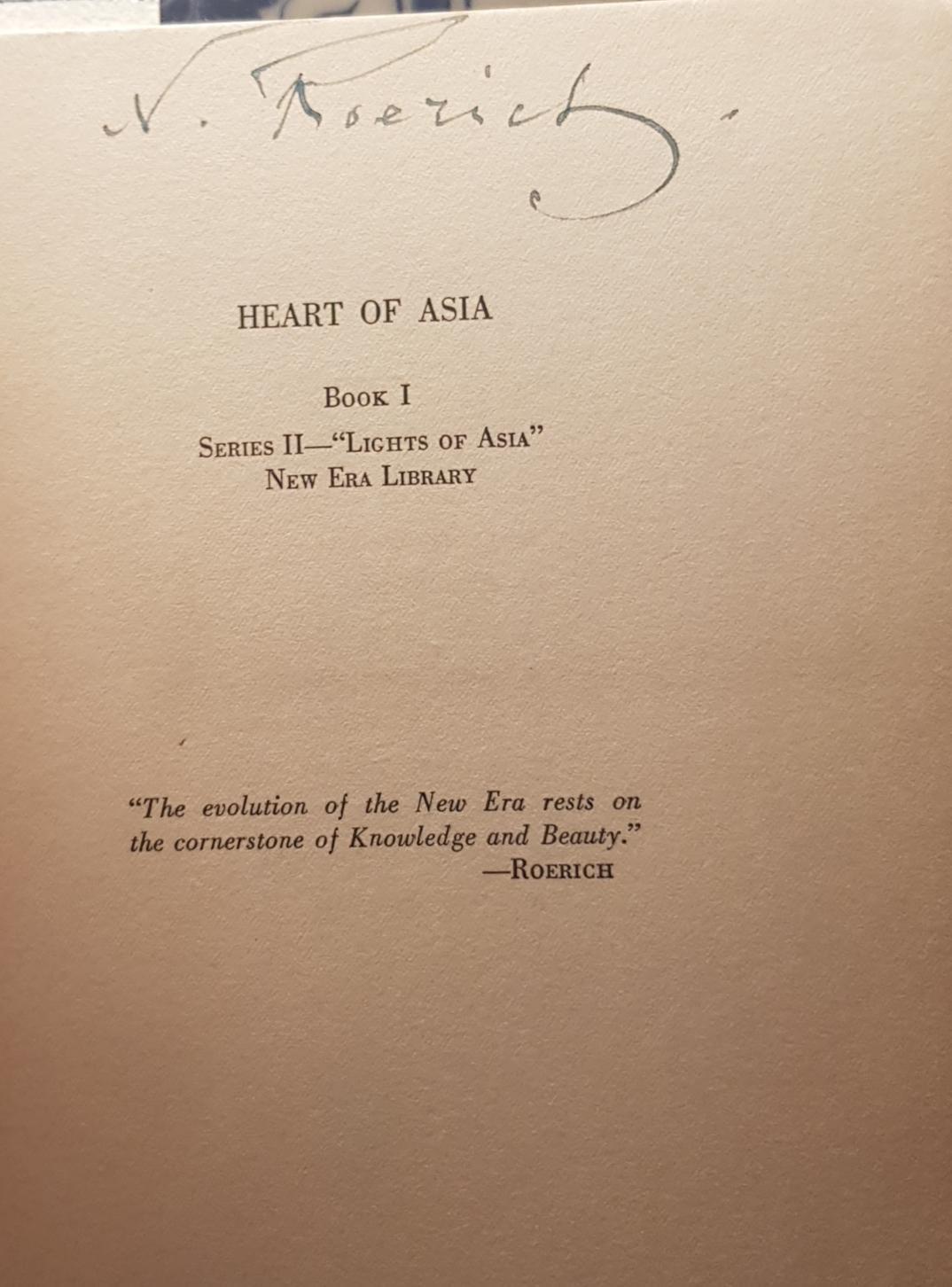 Heart_of_Asia_Nicholas_Roerich_Très_bon_Couverture_rigide