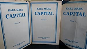 Karl Marx Capital : A Critique of Political Economy [3 Volume Set] Moscow 1977