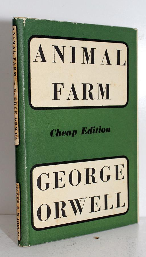 animal farm by george orwell secker and warburg uk cloth reprint